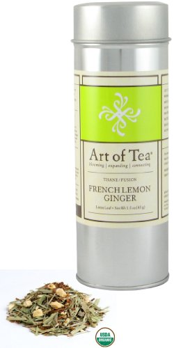 Art of Tea Organic French Lemon Ginger Tisane Tea - 1.5oz Tin