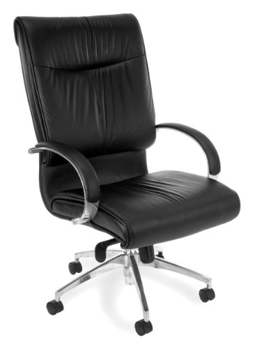 - OFM Sharp Series Hi-Back Executive Leather Chair - High Back Ergonomic Office Chair (510-L)