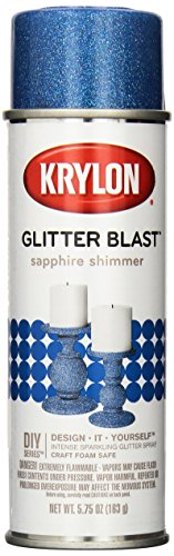 (Krylon K03814A00 Glitter Blast, Sapphire Shimmer, 5.75 Ounce)