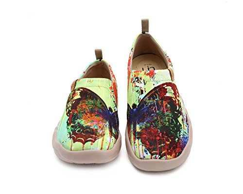 UIN Women's Butterfly Painted Canvas Slip-On Shoes Fashion Ladies Travel Shoes by UIN (Image #1)