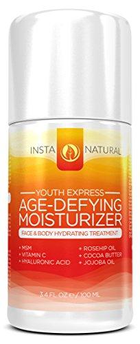 Crème anti-âge hydratant pour le visage - 3.4 OZ - Réduit apparence des rides, ridules, les taches de vieillesse, les cicatrices et la décoloration - 98% naturelle et d'ingrédients biologiques - peut également être utilisé comme une crème Hydratant pour l