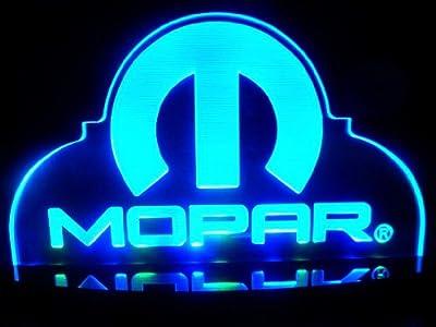 Mopar Hemi Chrysler Dodge LED Lamp Night Light Bedroom Game Room Signs