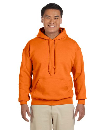 Gildan 18500 - Classic Fit Adult Hooded Sweatshirt Heavy Blend - First Quality - Safety Orange - Medium