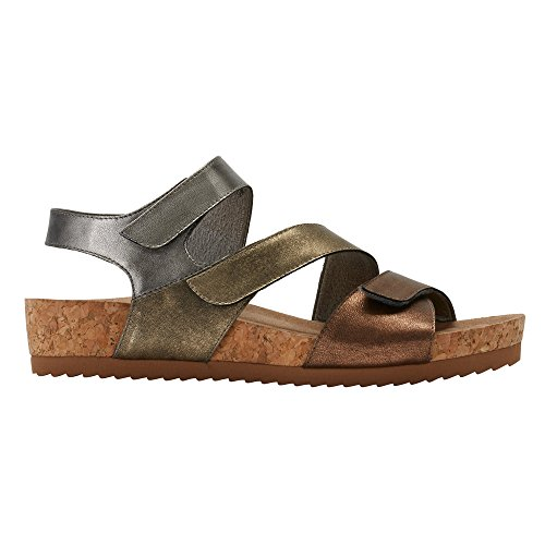 Pasha Walking Open Leather Womens Strappy Casual Leather Toe Cradles Metallic Sandals Multi SqExTwq4