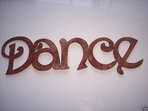 Amazon Com Dance Word Simple Font Metal Wall Art Home Decor Home Kitchen