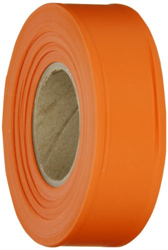 (Brady Orange Flagging Tape for Boundaries and Hazardous Areas - Non-Adhesive Tape, 1.188
