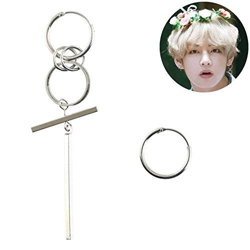 YYOOM Unisex Bangtan Boy Album BTS JIMIN Stud Earring 1 Pair ()