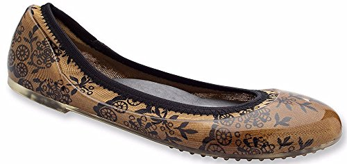 JA VIE Shoe Brands For Women Slip On For Every Day Wear Driving and Walking Fawn/Black Lace