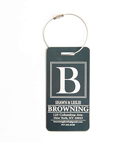 - Personalized Luggage Tags Engraved Design - Elegant and Durable Travel Suitcase Name Tags (Forest Browning Design, 1 Luggage Tag)