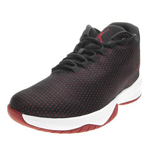 Jordan Nike Kids B. Fly Bg Black/Gym Red White Basketball Shoe 5 Kids US (Jordan Shoes Multicolored)
