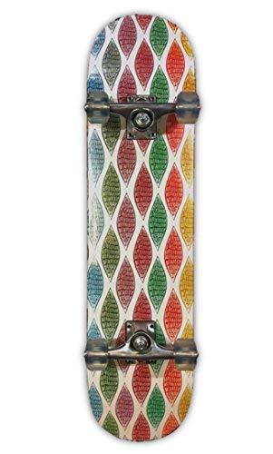 (DreadXBoards Double Kick Tail 31-inch Concave Skateboard with Heavy-duty Griptape, Trucks & Wheels (Leaves))