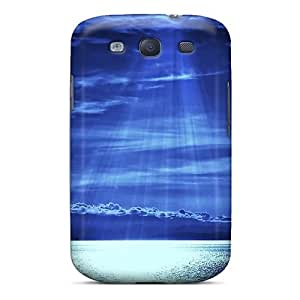 First-class Case Cover For Galaxy S3 Dual Protection Cover Sea Blue Light