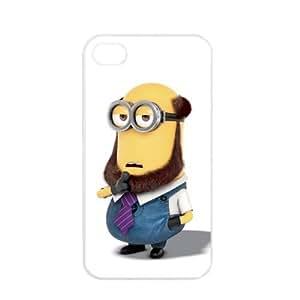 Despicable Me Minions Apple iPhone 4 / 4s TPU Soft Black or White case (White)