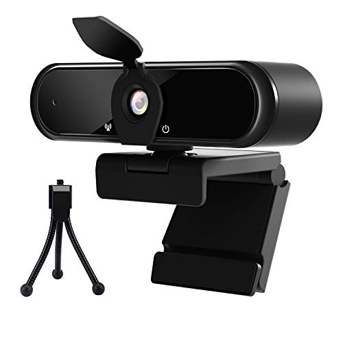 2K Webcam with Microphone, Intpw Web Cam USB Camera for PC & Laptop,Computer QHD Streaming Webcam with Auto Light Correction, Desktop Camera for Video Calling Gaming Recording Conferencing