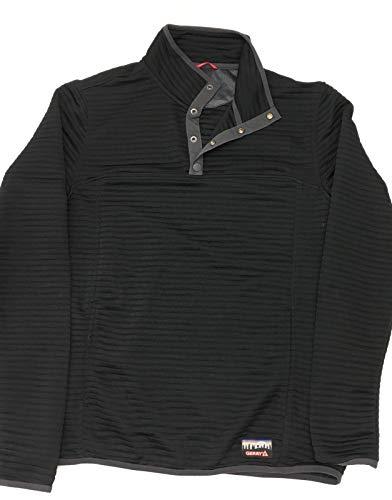 - Gerry Men's ¼ Zip Ottoman Pullover (XL, Black)