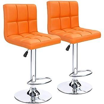 Amazon Com 2xhome Set Of Two 2 Orange 28 Quot Seat