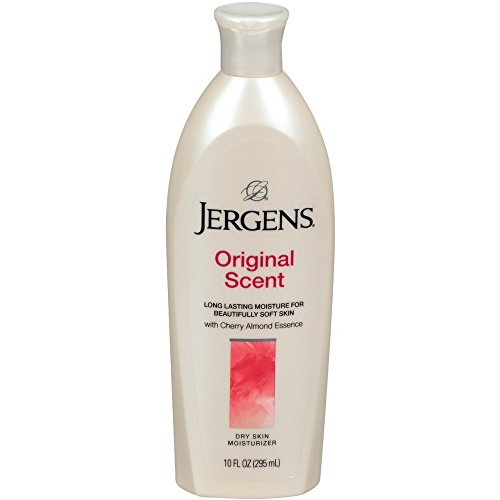 Jergens Original Scent Dry Skin Moisturizer with Cherry Almond Essence 10 oz (Pack of 4) Body Lotion Cherry Almond