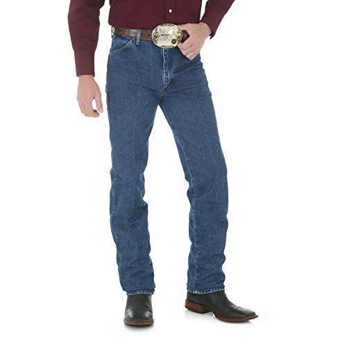 Wrangler Men's Big & Tall Cowboy Cut Slim Fit Jean, Stonewashed, 33x38