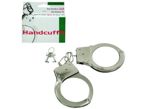 1 pair handcuffs w/2 keys - 72 pack by bulk buys