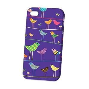 Case Fun Apple iPhone 4 / 4S Case - Vogue Version - 3D Full Wrap - Bird on a Wire