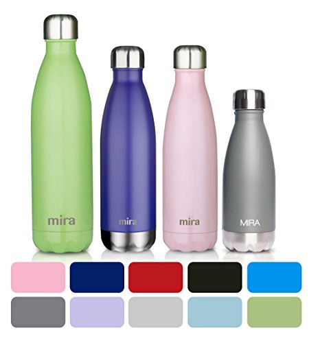 MIRA Stainless Steel Vacuum Insulated Water Bottle | Leak proof Double Walled Cola Shape Bottle | Keeps Drinks Cold for 24 hours & Hot for 12 hours