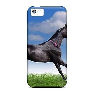 XiFu*MeiFor Iphone 5c Tpu Phone Case Cover(animals Horses Graceful Horse)XiFu*Mei