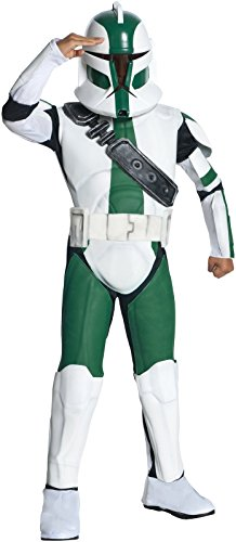 [Star Wars The Clone Wars, Commander Gree Deluxe Child's Costume, Small] (Clone Trooper Commander Cody Child Costume)