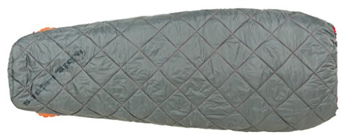 Big Agnes Cross Mountain 45 (Insotect Hot Stream) Rectangular 45 Degree Synthetic Sleeping Bag, Gray, Long Left