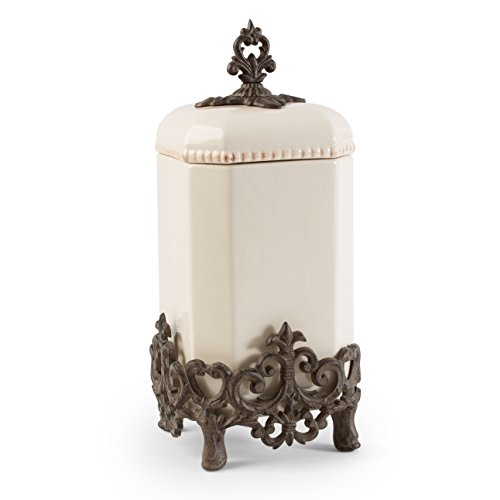 Provencial Large Cream Canister - GG Collection by GG Collection