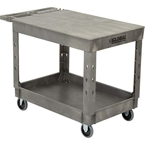 Plastic 2 Flat Shelf Service & Utility Cart, 44