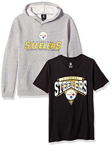 NFL by Outerstuff Youth Boys NFL 8-20 Giants Replen Tee /& Hoodie Set