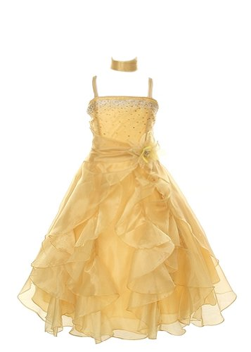 Cinderella Couture Crystal Organza Girl Dress-gold-4 (Gold Crystal Couture)