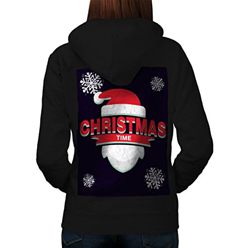 Mistle Toe Hat (Time Santa Hat Christmas Women M Hoodie Back | Wellcoda)