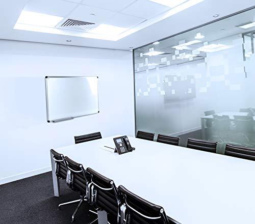 (Viztex, Premium Porcelain Magnetic Dry Erase Board with Aluminium Frame, Size 36