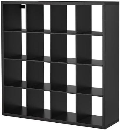 Ikea Kallax - Estantería (147 x 147 cm), color marrón y negro ...