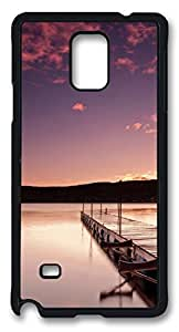 Beautiful Wharf DIY Hard Shell Black Designed For Samsung Galaxy Note 4 Case