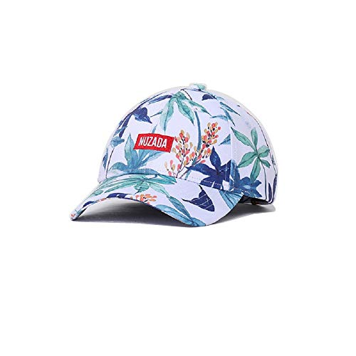 Printed Baseball Cap, Spring and Summer Sunshade Cap, Male Hip-hop Cap, Embroidered Duck Tongue Cap (Maple Leaf)