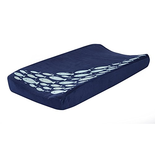 Lambs & Ivy Oceania Diaper Changing Pad Cover - Blue - Lamb Cover