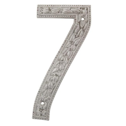 Vicenza Designs NU07 San Michele Venetian Style House Number 7, Satin Nickel