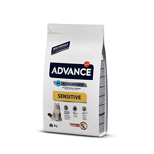 Advance Advance Sensitive Pienso para Gato Adulto con Salmón y Arroz – 3000 gr
