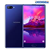 Unlocked Cell Phones, DOOGEE Mix Android 7.0-5.5 inch HD Screen - MediaTek Helio P25 2.5GHz - 3380mAh Battery - 4GB RAM + 64GB ROM - 8MP + 16MP Dual Cameras - 4G Unlocked Smartphones - Blue