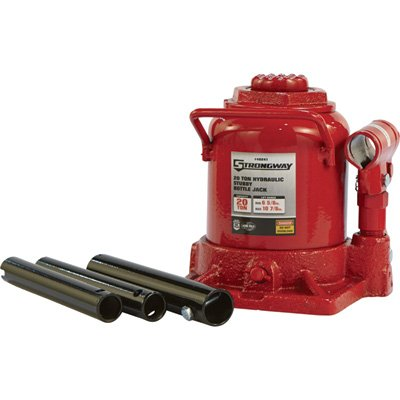 Strongway Hydraulic Stubby Bottle Jack - 20-Ton Capacity, 6 5/8in.-10 7/8in. Lift Range by Strongway