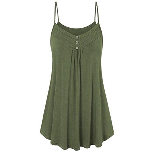 Neck Femme Saisonnire Boutons Tops Shirt Camisole Vert Lady Pure Vest Debardeur Chemisier Dbardeur Couleur Manches Promotion t Aaa Gilet V Crop T Sans q5zpqdw