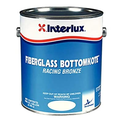 Interlux YBA549/1 Fiberglass Bottomkote Aqua Antifouling Paint Red, Gallon