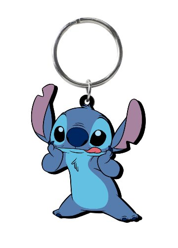 (Disney Stitch Soft Touch PVC Key Ring)