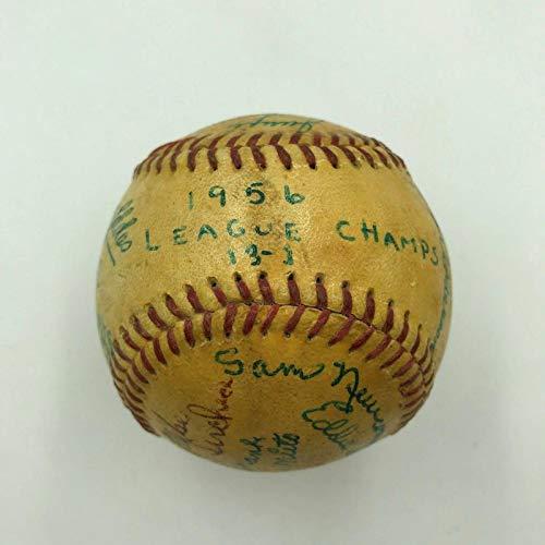 1956 Minor League World Series Game Used Team Signed Baseball Mike Mccormick - MLB Game Used Baseballs