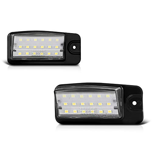 VIPMOTOZ Full LED License Plate Light Lamp Assembly Replacement For Nissan Altima Maxima Murano Rogue Pathfinder Infiniti Q45 EX FX QX Series - 6000K Diamond White, 2-Pieces