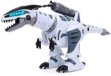 RCTecnic Dinosaurio Robot Teledirigido RoboRex ¡Lanzacohetes, Sonidos y LEDs ! | Tiranosaurio Rex Programable Mascotas Electrónica Juguetes para Niños | T Rex Robótica Radio Control