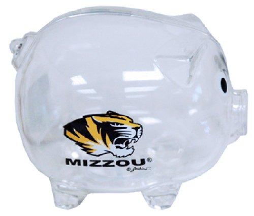 NCAA Missouri Tigers Clear Plastic Piggy (Tigers Piggy Bank)