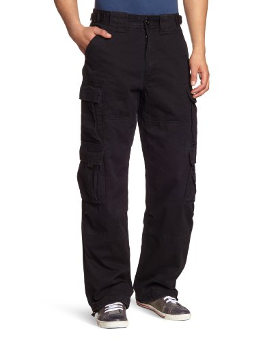 JET LAG Homme Cargo Style Pantalon 007, Couleur: black, Taille: s